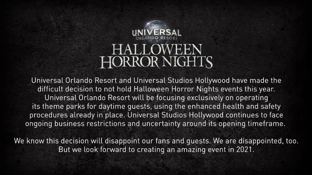 Halloween Horror Nights 2020 Opening Time Halloween Horror Nights 2020 Cancelled   Expedition Theme Park
